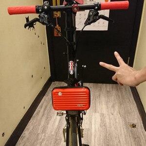 Bicycle front bag hard shell key sundries mobile phone bag mini for brompton bike mini bag tool 18 colors(China)