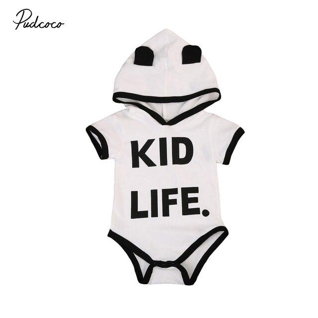 Schwarz Weiß Panda Baby Strampler Neugeborene Jungen Mädchen