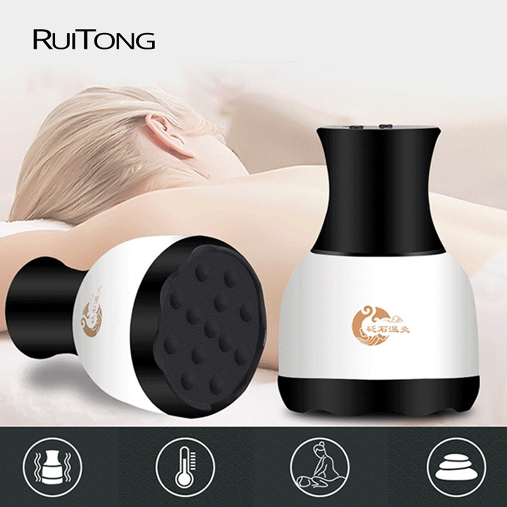 guasha beauty device vacuum scraping therapy massager cupping suction device health acupuncture home spa us plug Guasha Suction Scraping Massager Body Slimming Shaping Lymphatic Detox Machine Thermal Therapy Cupping Back Massager DropShip