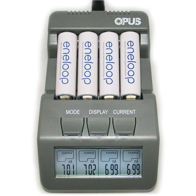 Оригинальный Opus BT-C700 NiCd NiMh ЖК-дисплей интеллектуальный цифровой AAA 16340 RCR123 14500 AA 4 слота с анализатором Тестер ЕС/США Plug