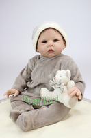 55cm Handmade Silicone Reborn Baby Doll Cloth Body Doll Training Simulation Baby Props Best Gift For
