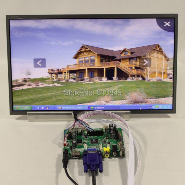 HDMI+VGA+AV+Audio+USB Controller board VST29.01B +10.1inch LP101WH1 1366*768 Lcd screen model lcd for Raspberry Pi  hdmi vga av audio usb fpv control board 14inch ltn140at26 lp140wh1 1366 768 lcd screen model lcd for raspberry pi