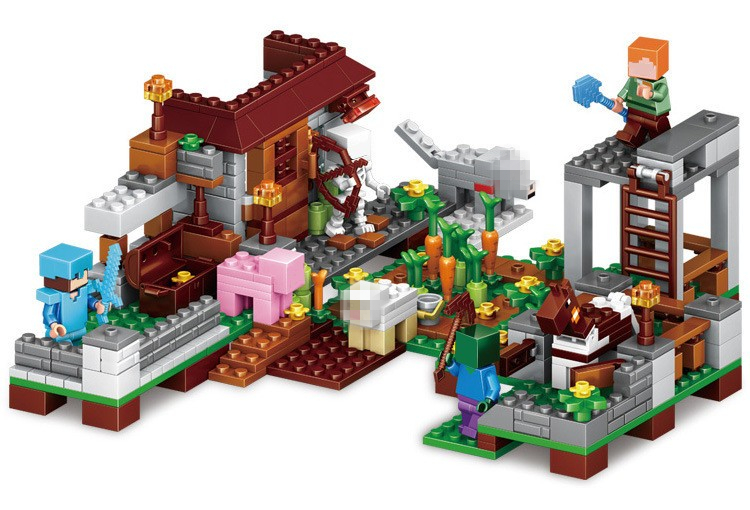 Buy 51harbour my world legoelied bay steve skeleton zombie for Cost of building blocks in jamaica 2017
