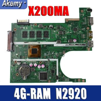 Amazoon  X200MA Laptop motherboard for ASUS X200MA  F200M F200MA Test original motherboard 4G-RAM N2920 4 cores CPU