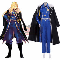 Anime Fullmetal Alchemist Olivier Mira Armstrong Cosplay costume adult costume full set custom made outfit with cloak