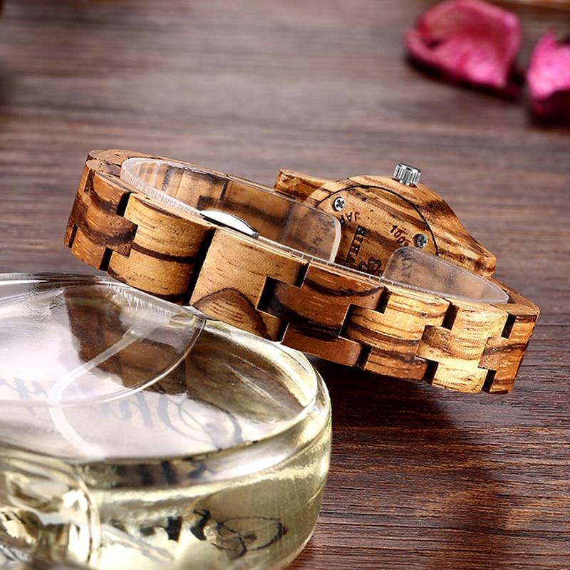 New Design Women Zebra Wooden Watch Luxury Brand Top Gift 4