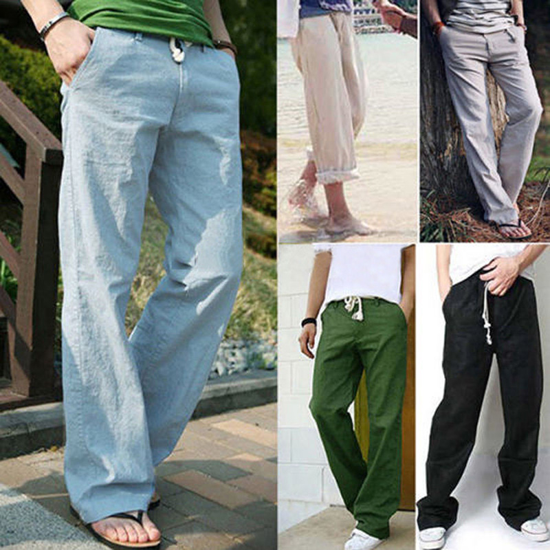 Compare Prices on Mens Linen Drawstring Pants Beach- Online ...