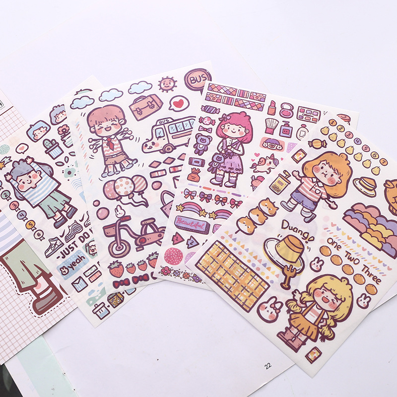 Daily and paper stickers DIY decorative stickers kawaii kids store in the new Korean dickers wood  scrapbooking stickersDaily and paper stickers DIY decorative stickers kawaii kids store in the new Korean dickers wood  scrapbooking stickers