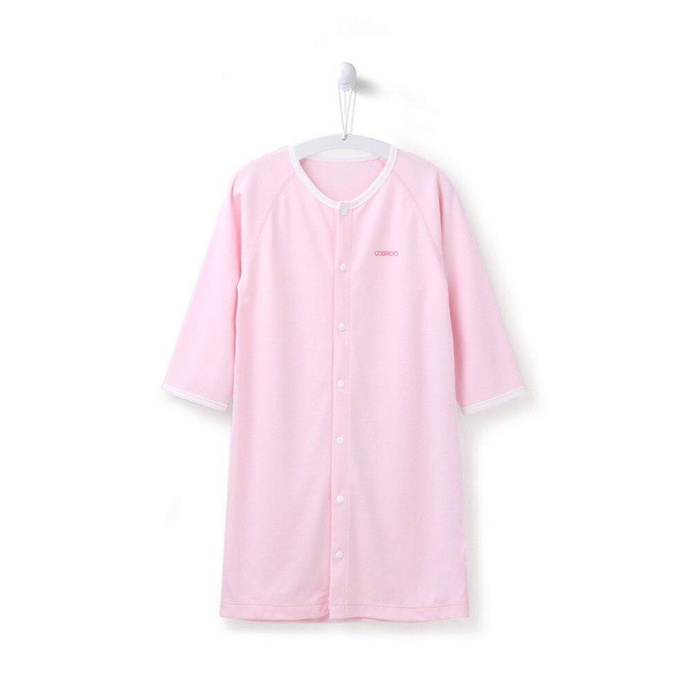 COBROO Baby Cotton Piżamy Bielizna nocna z zatrzaskiem Jednokolorowe - Odzież dla niemowląt - Zdjęcie 3