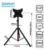 ( 1 pair ) 14 40 Movable Folding LCD TV Floor Stand TV Mount Cart Display Rack Full Motion TV Tripod Loading 50kgs TRKX22