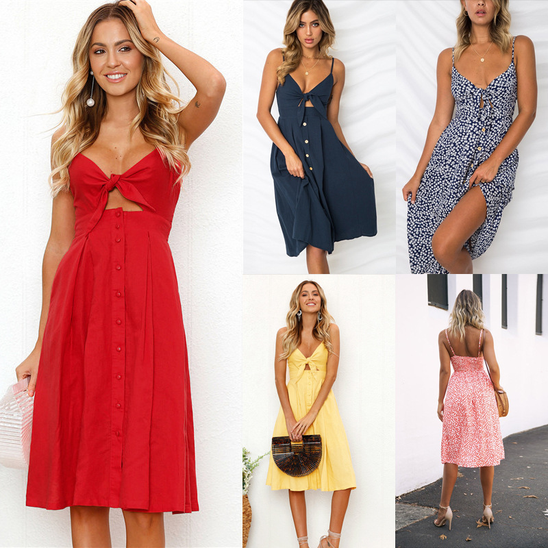 Womens Summer Boho Maxi Long Dress Evening Party sexy Beach Dresses Sundress  robe femme elegant Dress Summer 2019 plus size 1