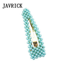 JAVRICK  Sweet Girls Student Hair Clips Artificial Pearl Hairpin Bangs Clip Cute Hairpins Accessories