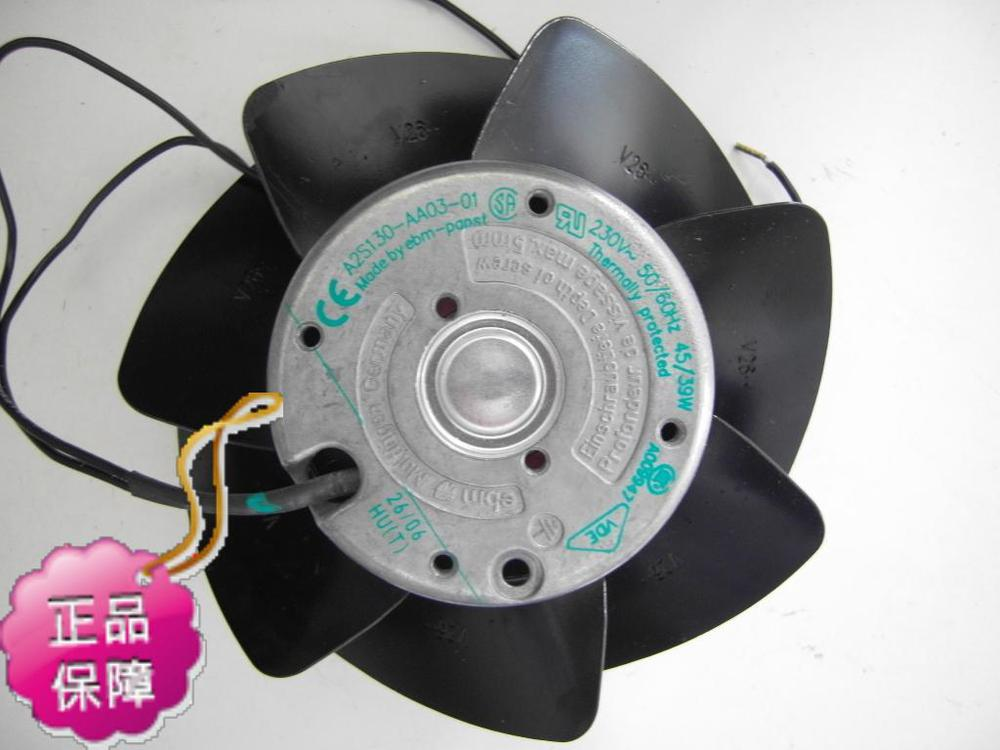 New Original German ebmpapst A2S130-AA03-01 AC220V 45W temperature frameless cooling fan new original german ebmpapst 4606n 120 38mm ac110v 0 23a 20w high temperature axial radiator cooling fan