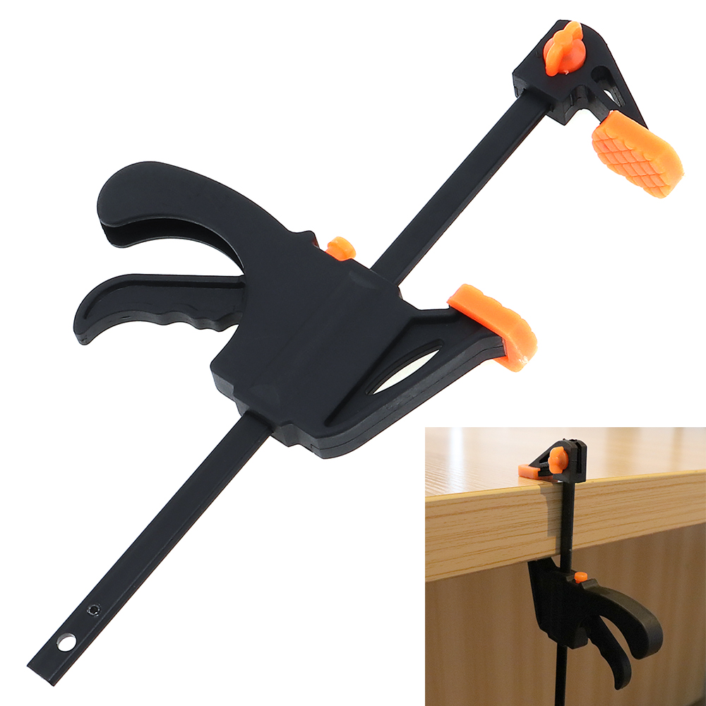 4 Inch Quick Ratchet Release Speed Squeeze Wood Working Work Bar F Clamp Clip Kit Spreader Gadget Tool DIY Hand Carpenter Tool 14pcs the key with combination ratchet wrench auto repair set of hand tool kit spanners a set of keys herramientas de mano