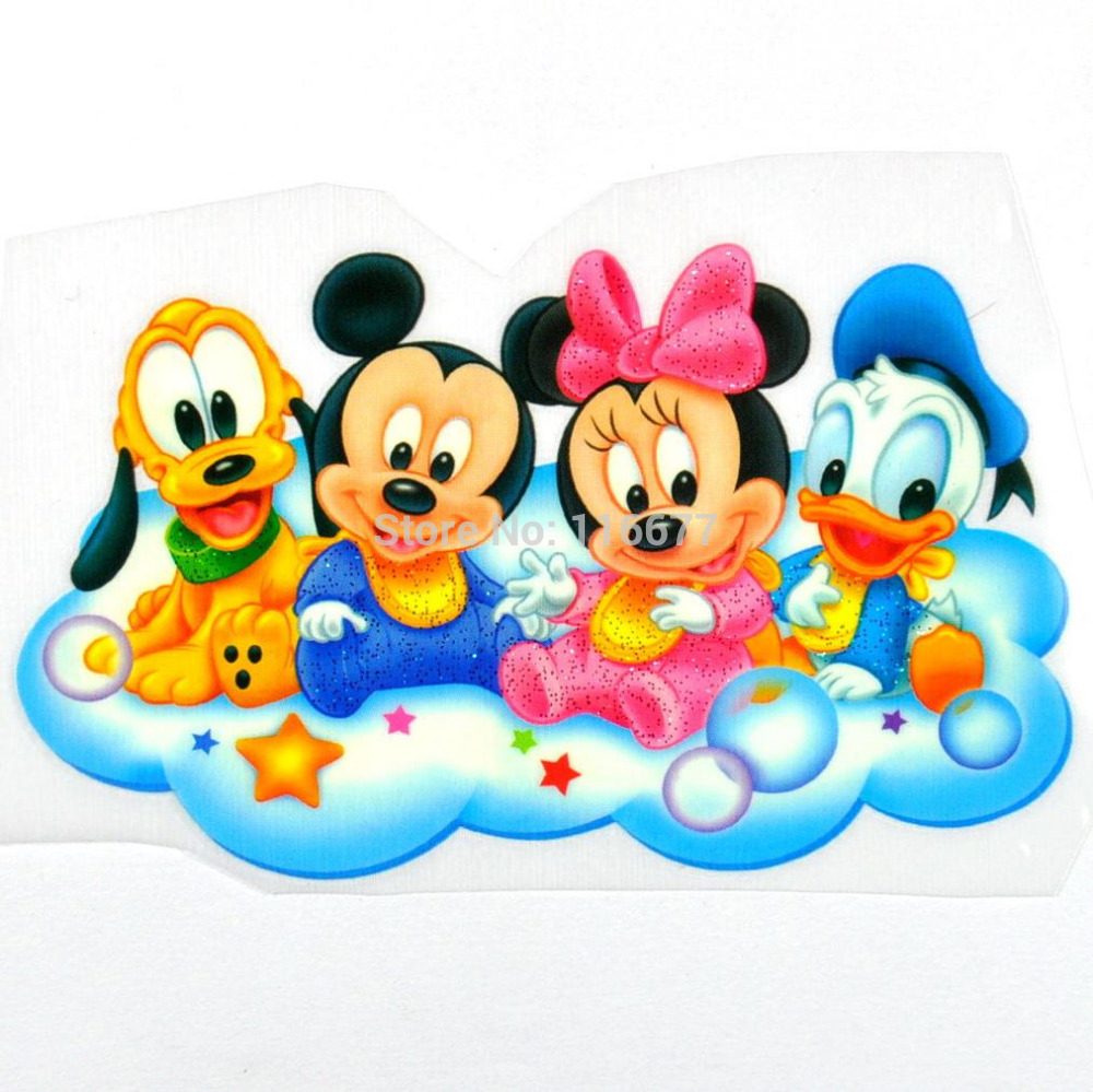 10 pcs of baby mickey minnie mouse donald duck pluto iron on patches iron on transfer d6 in - Mickey mouse minnie cienta ...