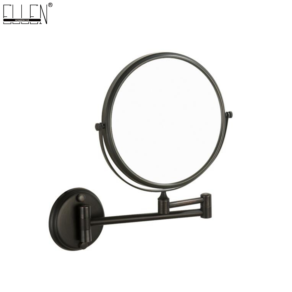Bathroom Mirror 8 Dual Makeup Mirror Black Magnifier Copper Cosmetic Bathroom Double Faced Bath Mirror