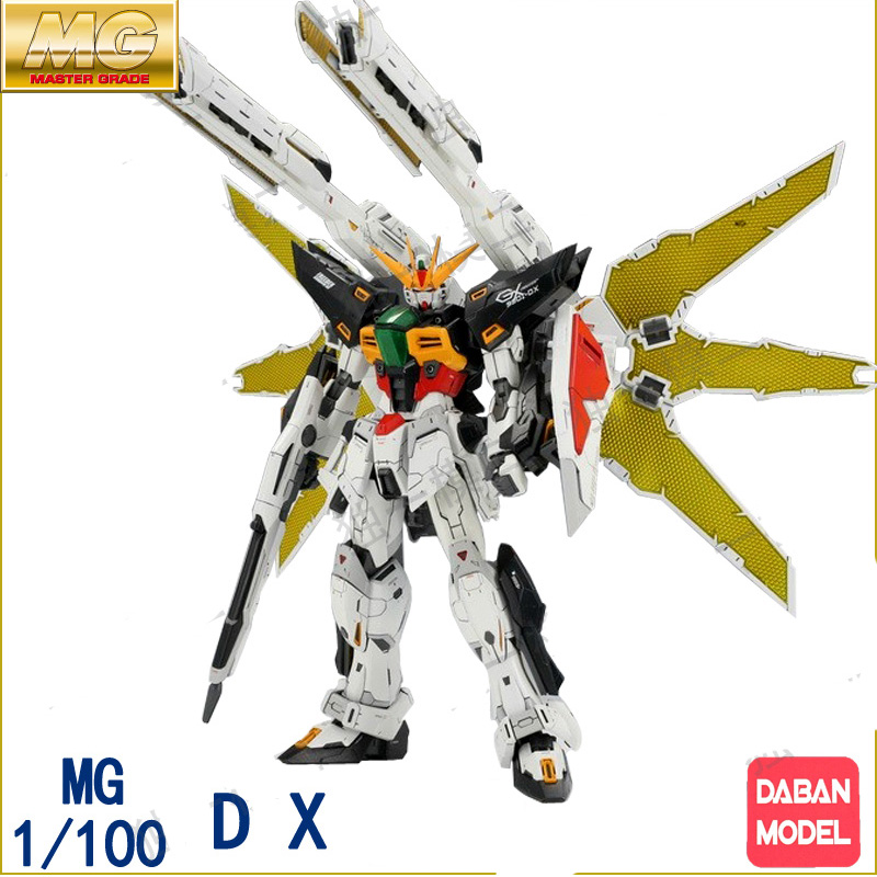 In Boxed Daban Anime Mobile suit Action Figure Robot toy Gundam X MG 1/100 GX-9901 DX Double model kits juguetes stickers model fans in stock daban gundam model pg 1 60 unicorn gundam phoenix self assambled robot 350mm toys figure