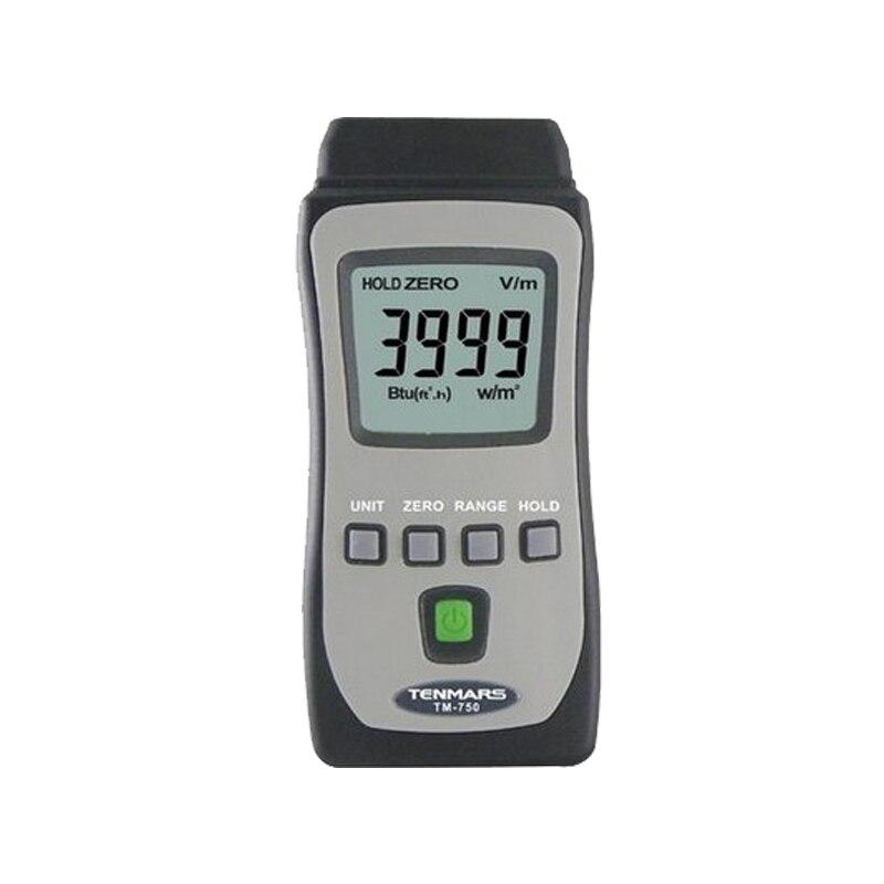 TENMARS TM-750 Mini Pocket Solar Radiation Power Tester Solar Power Meters tes 1333 solar power meter digital radiation detector solar cell energy tester