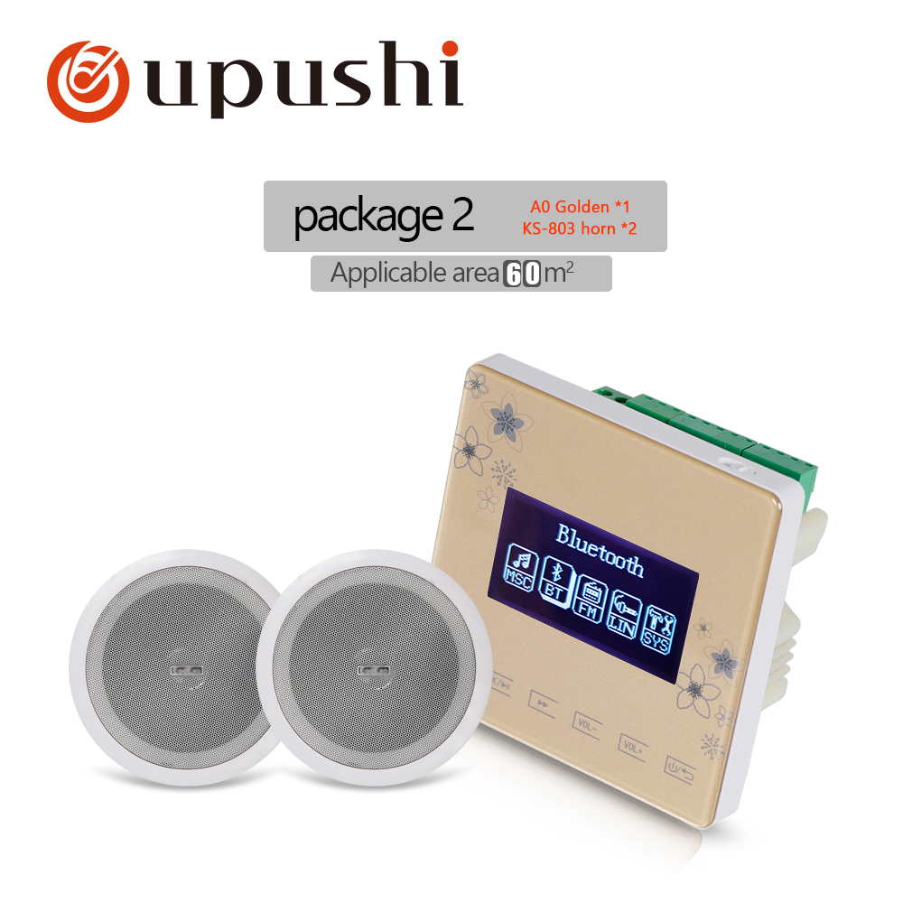 OUPUSHI A0+KS803 Music System <font><b>Bluetooth</b></font> Digital Stereo in <font><b>Wall</b></font> <font><b>Amplifier</b></font> and audio speaker for Family Background music system