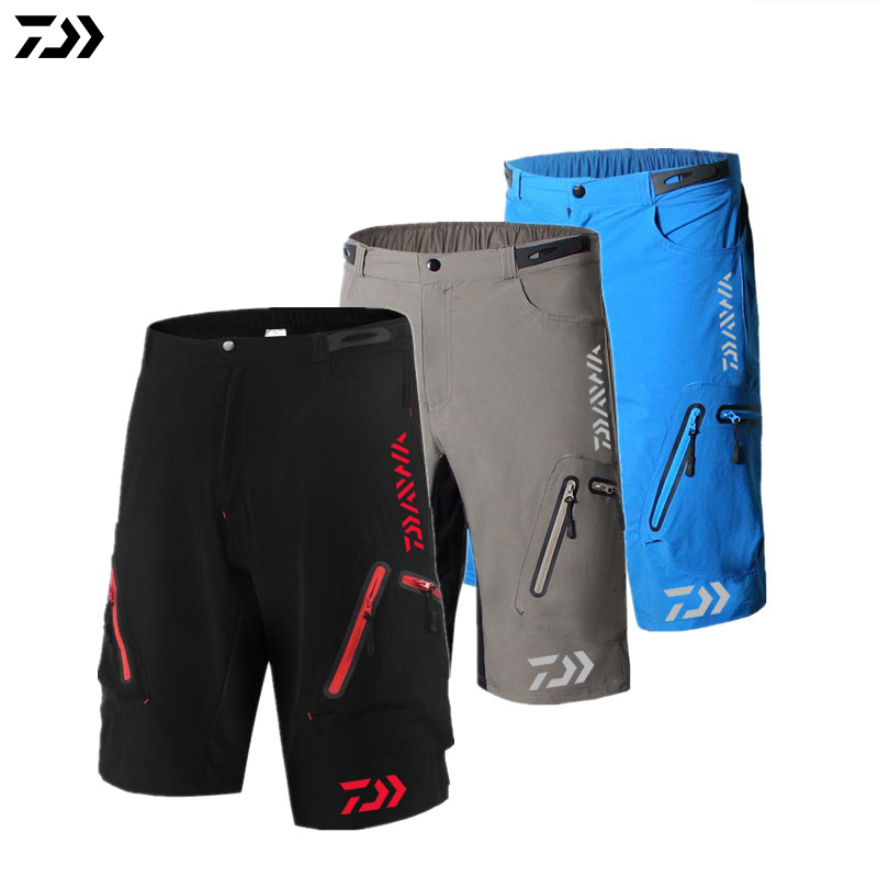DAIWA Short Pants 2019 Summer Waterproof Mens Fishing Clothing Breathable Outdoor Sports Shorts Pockets Fishing Short Pants