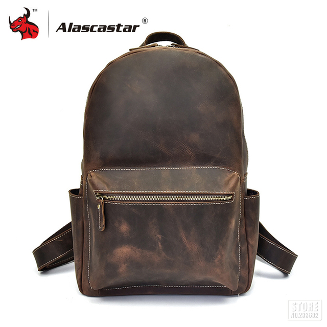 d2a1dc30fd Motorcycle Bags Full Grain Cow Leather Motorcycle Backpack Retro Vintage  Men Casual Travel Luggage Bags Handbag