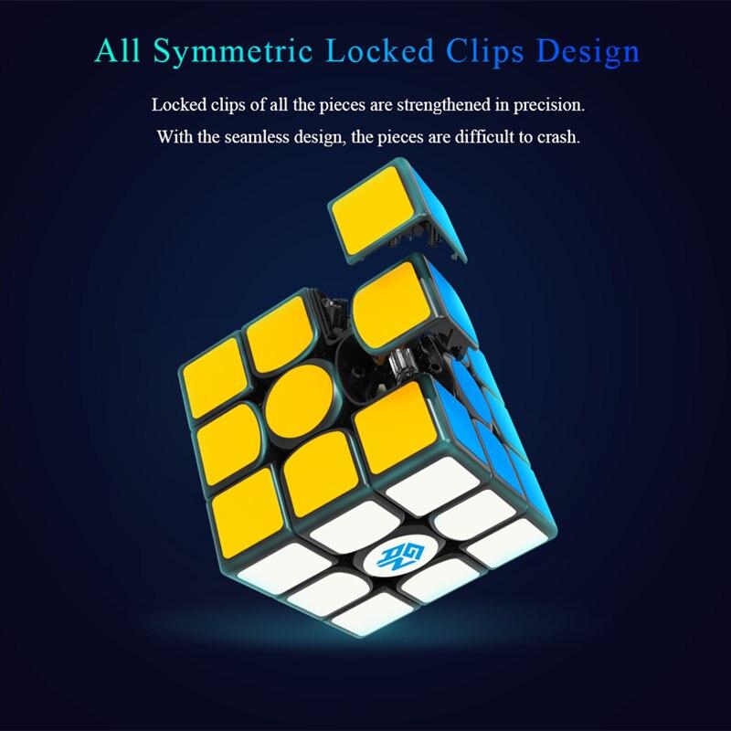 GAN 356 X Cube magique magnétique Gan 356x Cube de vitesse Profissiona aimants Cubes Puzzle néo Cubo Magico GANS 356 jouets pour enfants Cubo - 3
