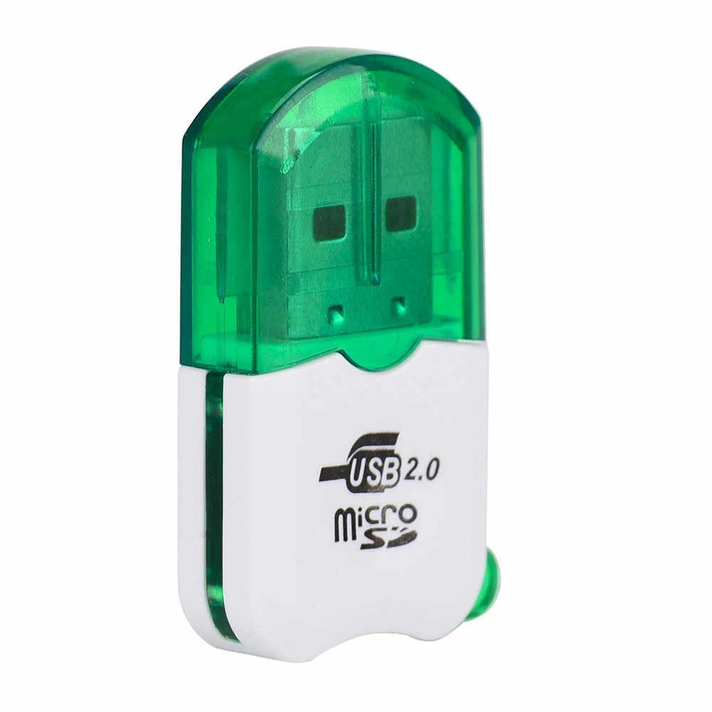 عالية السرعة البسيطة USB 2.0 مايكرو SD TF T-فلاش ذاكرة محوّل قارئ البطاقات Futural الرقمية * 20