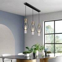 Nordic personality LED pendant lights living room restaurant bedroom lamp glass art gold lamp designer villa model room lamp CL6