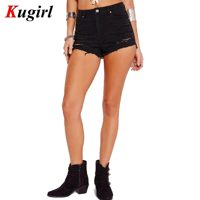 black distressed shorts womens