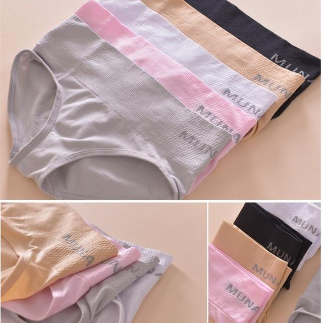 4da18db31 Hot Janpan Munafie Controle Calcinhas de Cintura Média das Mulheres Cuidados  de Beleza Do Corpo de