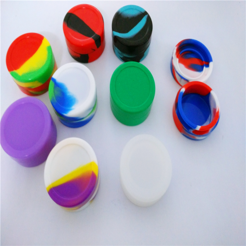 22ml Food Grade Silicone Jars Dab Wax Container For Wax E Cigarette Atomizer Hot Sale