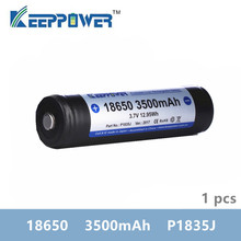 1 pcs KeepPower 3500mAh 18650 מוגן ליתיום נטענת סוללה 3.7V P1835J זרוק חינם מקורי batteria
