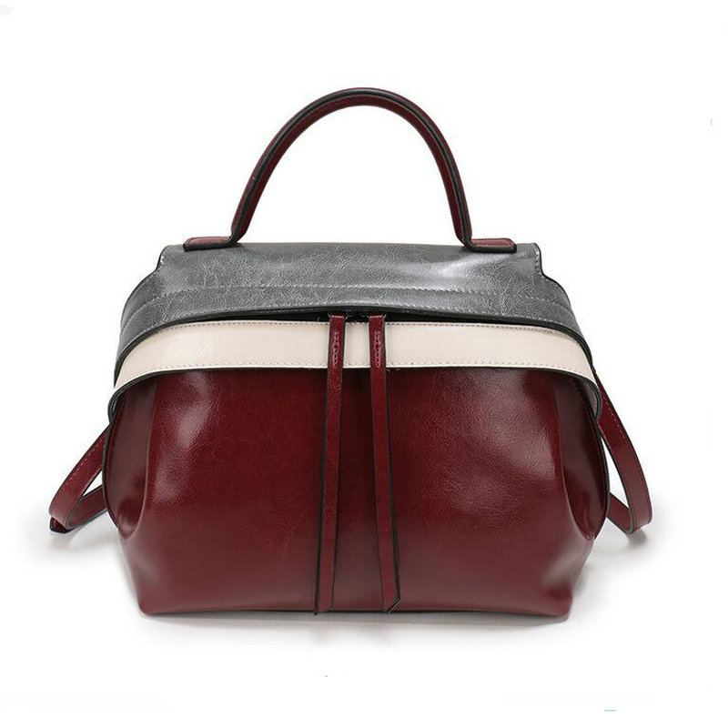 2017 Handbags Women Messenger Bags 100%Genuine Leather Women Bags Retro Handbags Famous Brand Fashion Casual Ladies Shoulder Bag 100% genuine leather women bags famous brand women messenger bags first layer cowhide shoulder bags women ladies handbags