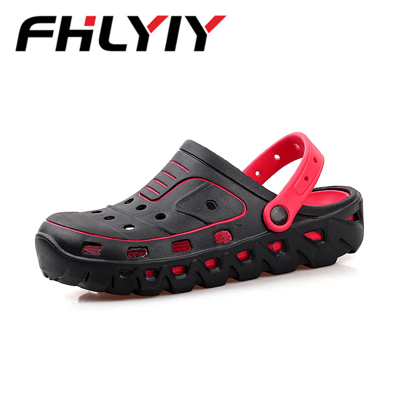New Summer Men Casual Hole Shoes Male Sandals And Slippers White Beach Shoes Baotou Beach Sandals Flip Flops Zapato Hombre