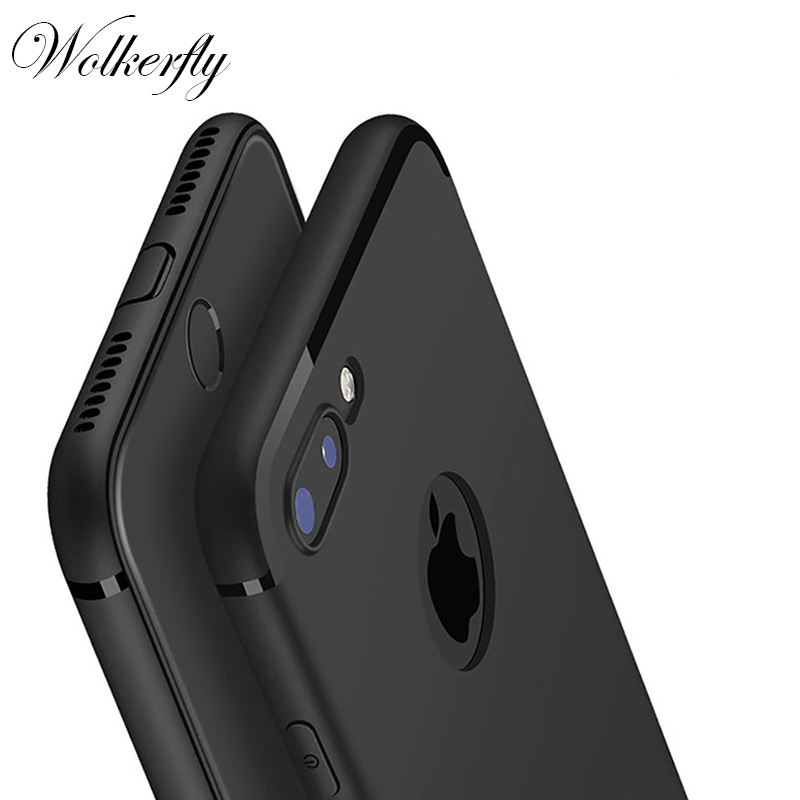 New Luxury Slim Silicon Case For iPhone 6 Cases 6S Plus 5 5S SE Cover Coque Black Soft Matte TPU Phone Case for iPhone 7 7 Plus