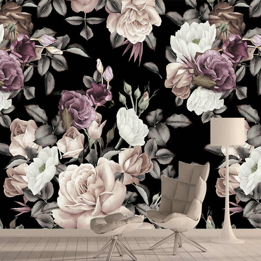 Floral Wallpaper For Nursery Wall Decal Removable Wallpaper Peel