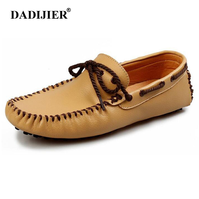 DADIJIER Men Casual Shoes High Quality Men's Soft Leather Slip on Loafers Male Fashion Driving Shoes Boat Mens Moccasin FM66