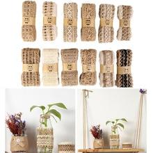 2M/Roll Natural Jute Ribbon Party Crafts Wedding Gift Decoration  Hemp Burlap DIY Festival Supplies Home Decor