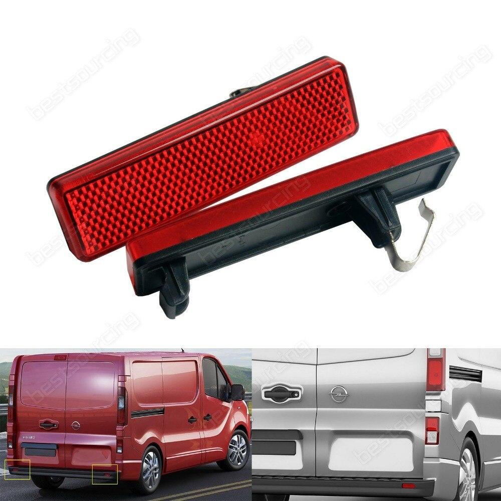 For Vauxhall Opel Vivaro Movano A Red Lens OEM Rear Bumper Reflector Light Lamp L+R (CA329)
