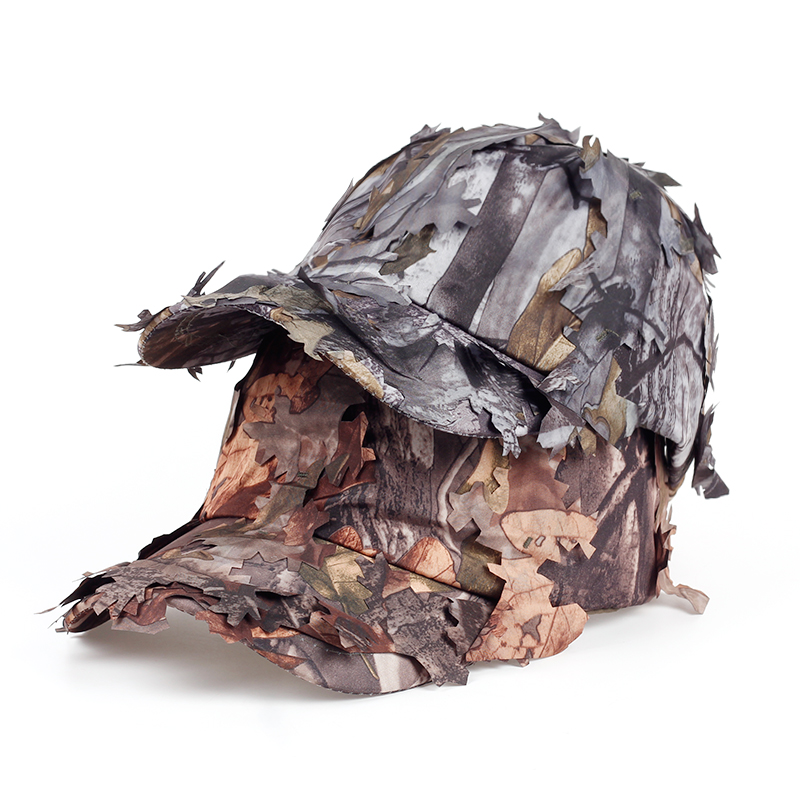 Personality Casual Design CS Field 3D Bionic Camouflage Cotton Baseball Cap Fast Drink Outdoor Hunting Leaves Camouflage Hat