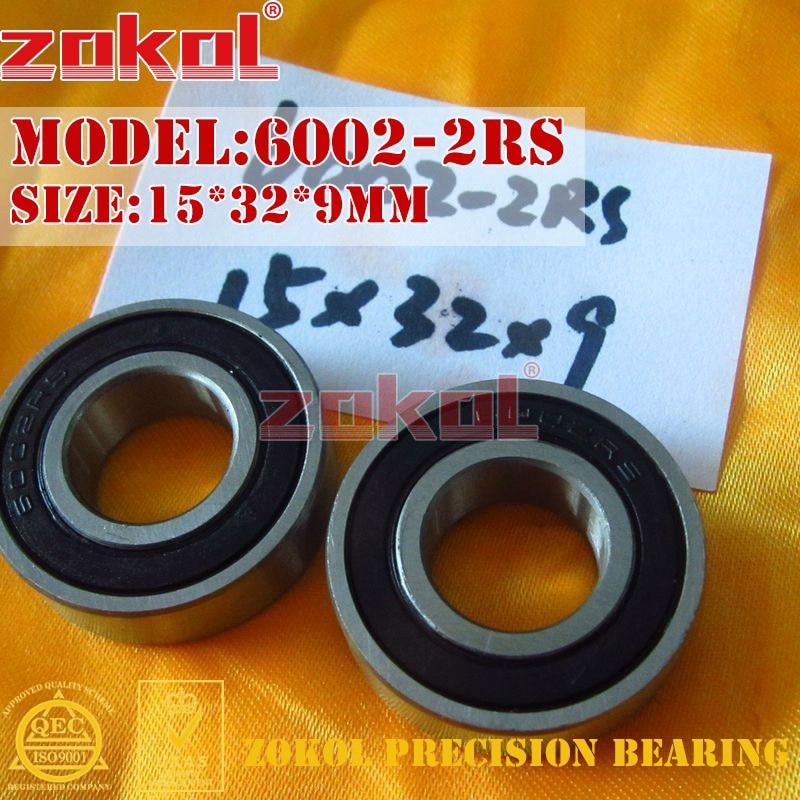 מחיר נשיאה 180102 - ZOKOL 6002 RS Z3V3 bearing 6002 2RS Z1 6002 ZZ S6002ZZ Deep Groove ball bearing 15*32*9mm