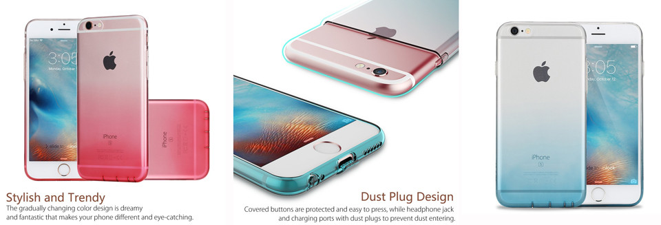 Gradient TPU case for iphone 7