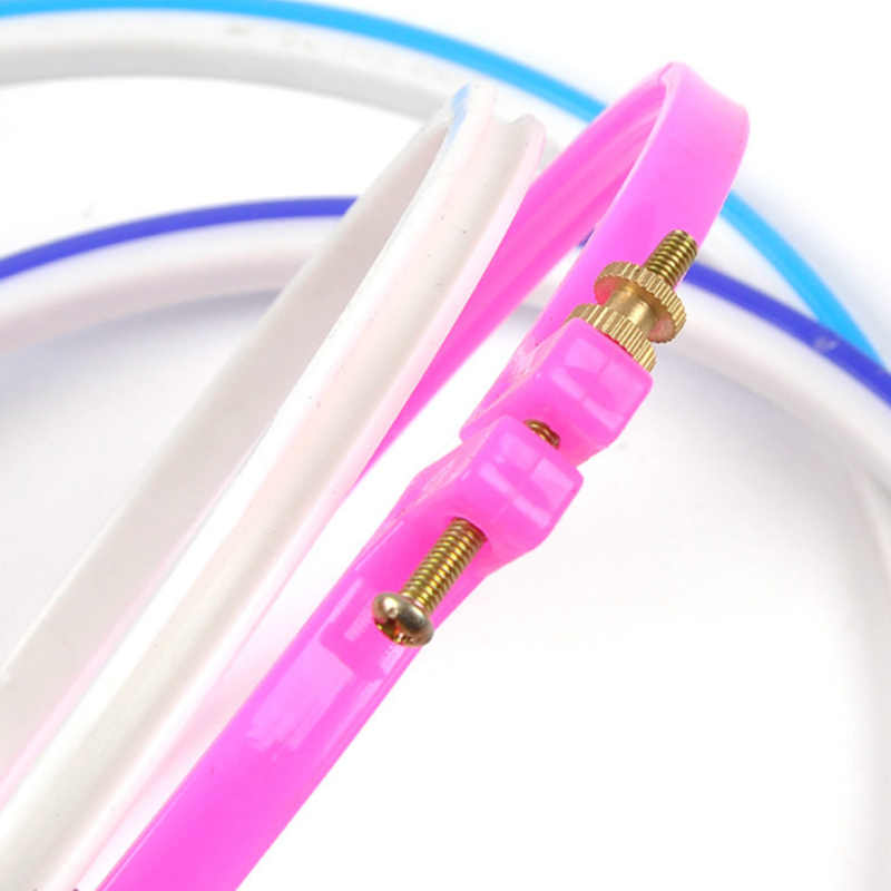 oneroom 6th Round Loop Cross Stitch Hand DIY Needle Craft Embroidery Hoop Wood Plastic Frame Household  Random color Ring Circle