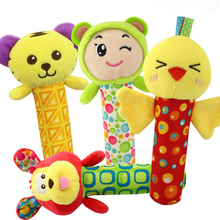 Cute Baby Rattles Crib Toys for Cartoon Soft Plush Bed Bell Newborn 0-24 Months Educational Toy