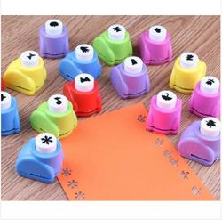 Mini Scrapbook Punches Handmade Cutter Card Craft Calico Printing Flower Paper Craft Punch Hole Puncher Shape DIY Tool