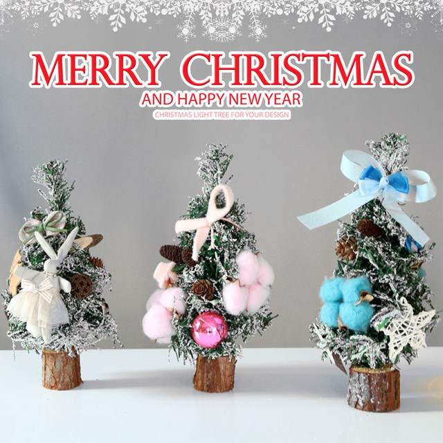 25cm christmas table decoration mini christmas tree party decoration ornaments light christmas tree magic tree merry