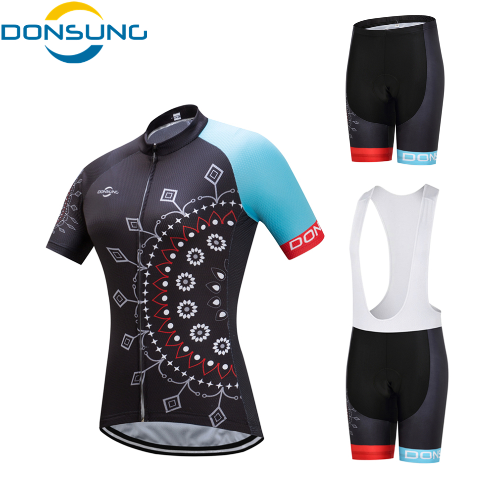 2017 DONSUNG Cycling Jersey Set Women Cycling Clothing Set Breathable Bike Jerseys Set MTB Cycling Clothes Maillot Ropa Ciclismo