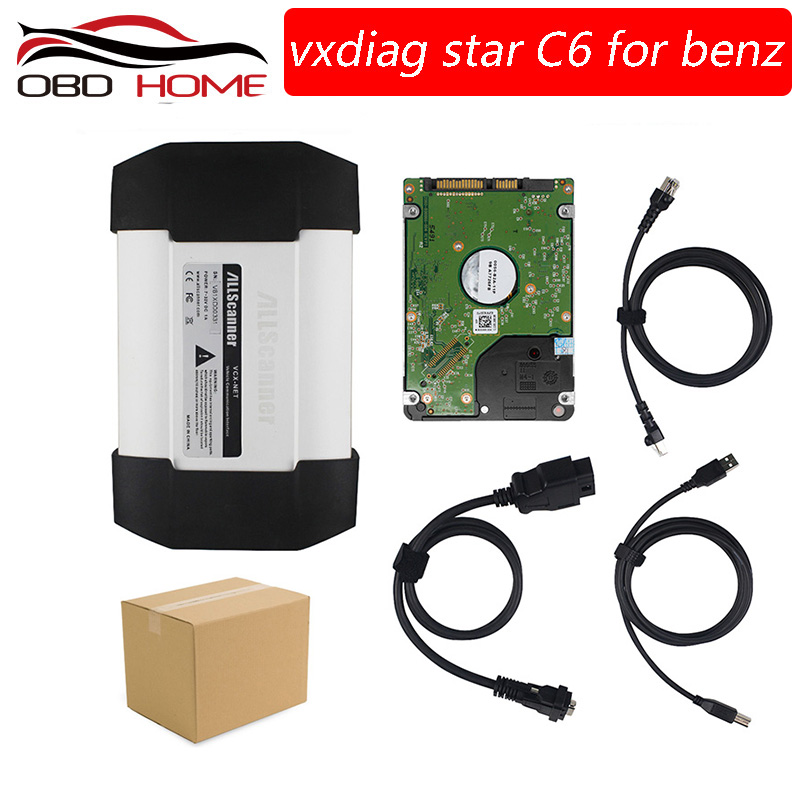 VXDIAG C6 DOIP AUDIO Function for Benz Diagnostic Tool Wireless Connected Better than For Mercedes for