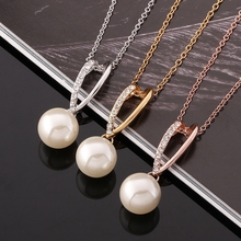N774 Fashion jewelry gold 925 silver plated natural pearl necklace colar rose gold necklaces & pendants for women vintage choker