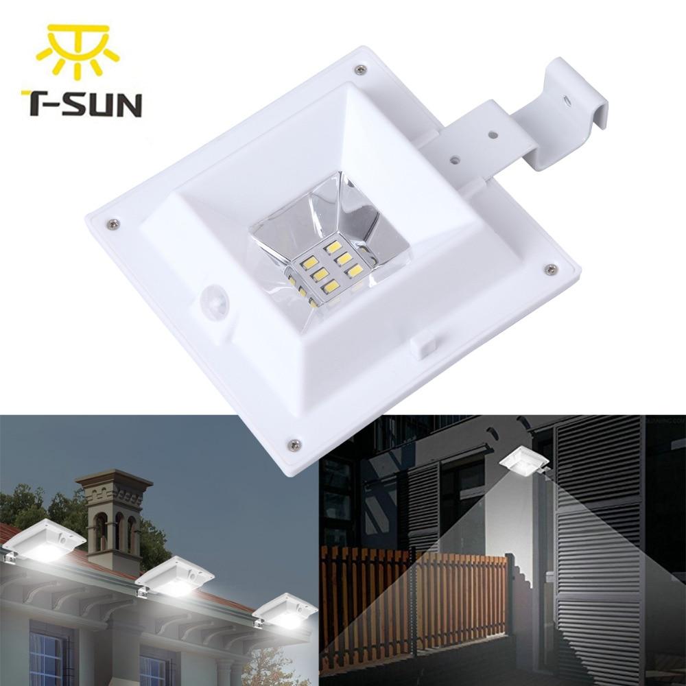 6 x BLACK LED SOLAR POWER GUTTER DOOR FENCE WALL ROOF LIGHTS OUTDOOR GARDEN